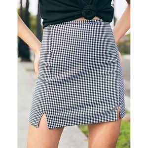 NWOT John Galt Cara Skirt Black White